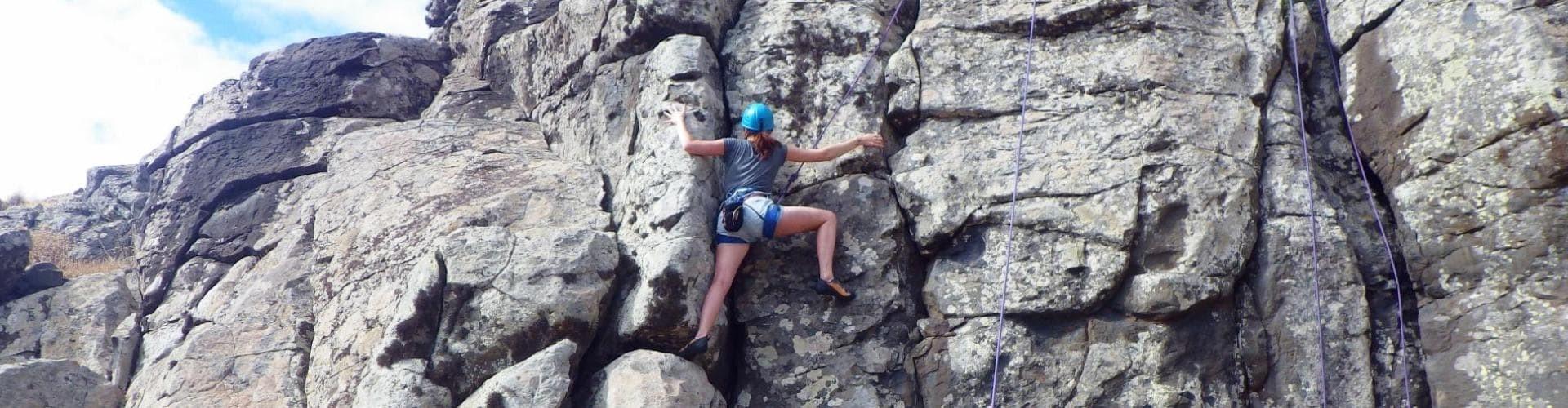 Climbing in Madeira Island