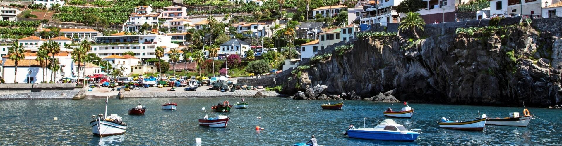 Municipio de Camara de Lobos na Ilha da Madeira