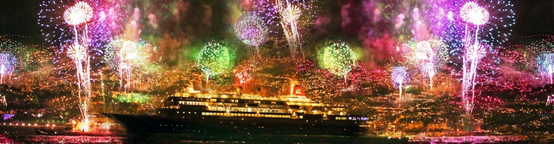 Spectacular New Year Fireworks Cruise Madeira Island