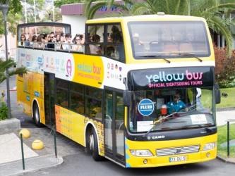 Cabo Girão Bus Tour Sightseeing Bus Yellow