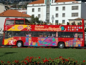 City Gold CR7 Red Bus City Sightseeing Funchal