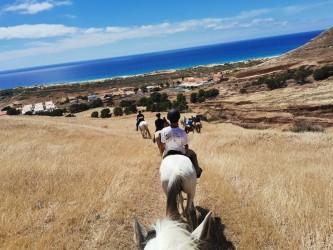 Horse riding in Porto Santo Flores Viewpoint