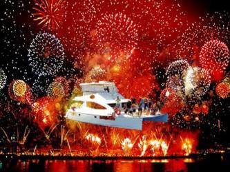 Cruzeiro na véspera de Ano Novo na Madeira