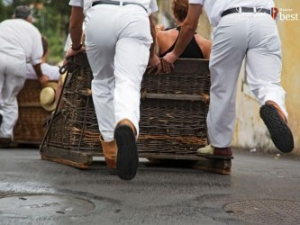Madeira Toboggan Ride on Traditional Wicker Basket Sledges